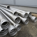 Stainless steel piping.
