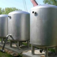 NN stainless steel tanks.