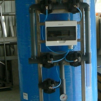 Automatic fiberglass TVK P softening filter.