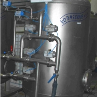 Automatic stainless steel TVK ZN softening filter.