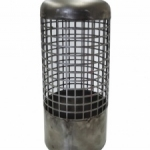 Stainless steel suction basket.