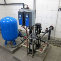 automatic pressure station with Grundfos pumps and VACON frequency changers